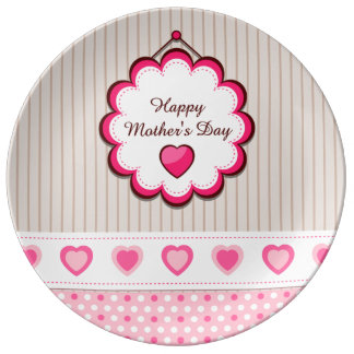 Happy Mother's Day Hearts Dinner Plate