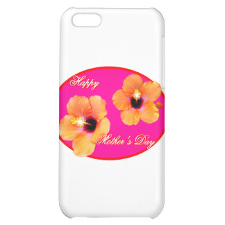 Happy Mother's Day Hibiscus Magenta Red Oval The M iPhone 5C Covers