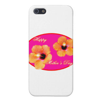 Happy Mother's Day Hibiscus Magenta Red Oval The M iPhone 5 Cover