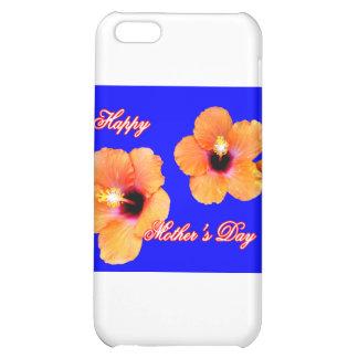 Happy Mother's Day Hibiscus Orange Blue bg The MUS iPhone 5C Covers