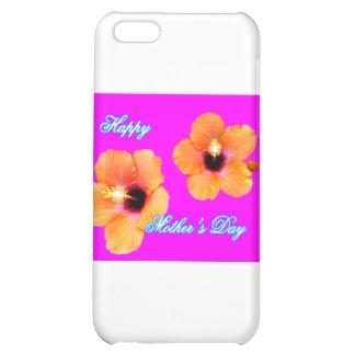 Happy Mother's Day Hibiscus Orange Magenta bg The iPhone 5C Covers