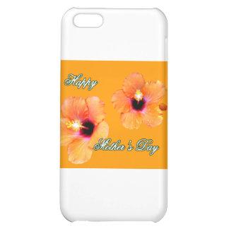 Happy Mother's Day Hibiscus Orange Orange bg The M Case For iPhone 5C
