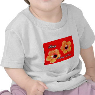 Happy Mother's Day Hibiscus Orange Red bg The MUSE Shirt
