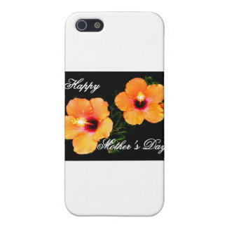 Happy Mother's Day Hibiscus Orange The MUSEUM Zazz Cases For iPhone 5