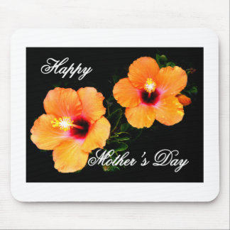 Happy Mother's Day Hibiscus Orange The MUSEUM Zazz Mouse Pad