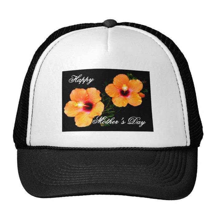 Happy Mother's Day Hibiscus Orange The MUSEUM Zazz Trucker Hat