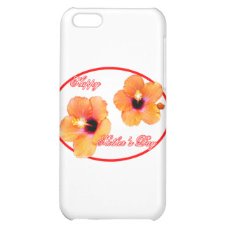 Happy Mother's Day Hibiscus White Red Oval The MUS iPhone 5C Case