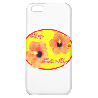 Happy Mother's Day Hibiscus Yellow Red Oval The MU iPhone 5C Cases