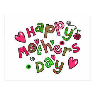 Happy Mothers Day Holiday Text Postcard