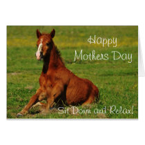 Happy Mothers Day Horse Card
