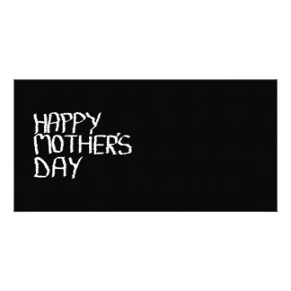 Happy Mother's Day. In Black and White. Card