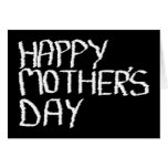 Happy Mother's Day. In Black and White. Greeting Card