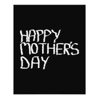 Happy Mother's Day. In Black and White. Flyer