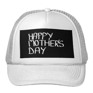 Happy Mother's Day. In Black and White. Hats