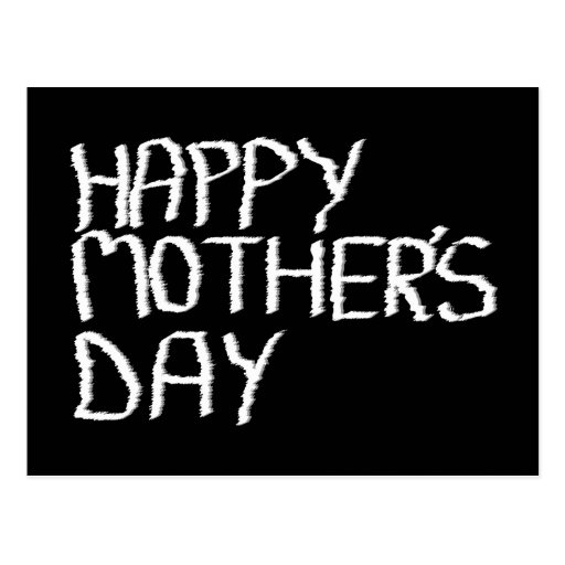 Happy Mother's Day. In Black and White. Postcard