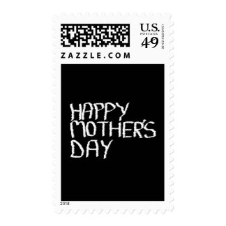 Happy Mother's Day. In Black and White. Stamps