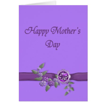 Happy Mothers Day in Purple Card