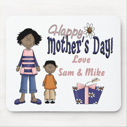 Happy Mothers Day - Kids & Present Mousepad
