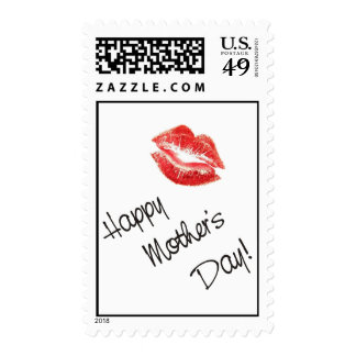 Happy Mother's Day Kiss Postage Stamps