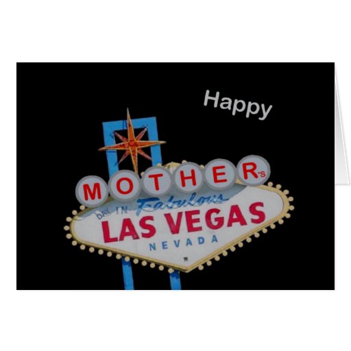 Happy Mother's Day, Las Vegas Card, secret message Card