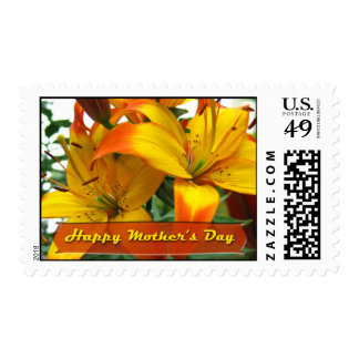 Happy Mother's Day Lilies Postage Stamps