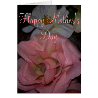 Happy Mother's Day Lily and Rose Template Greeting Card