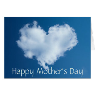 Happy Mother's Day love heart cloud Card