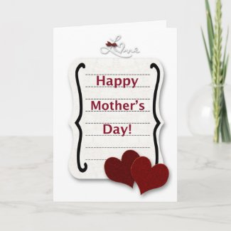 Happy Mother's Day Love Note Card