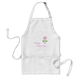 Happy-Mothers-Day Love you Mom Unique Adult Apron