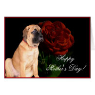 Happy Mother's Day mastiff puppy greeting card