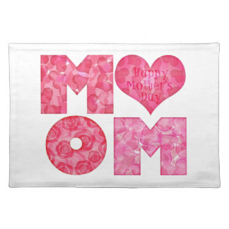 Happy Mother's Day Mom Alphabet Placemats
