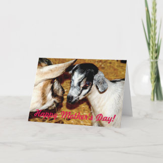 Happy Mother's Day! Mom and Baby Goat Card