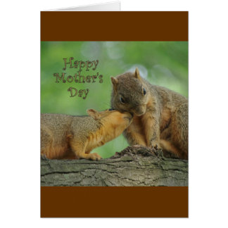 Happy Mother's Day - Mom and Baby Squirrel Card