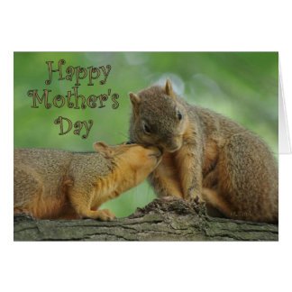 Happy Mother's Day - Mom and Baby Squirrels Card
