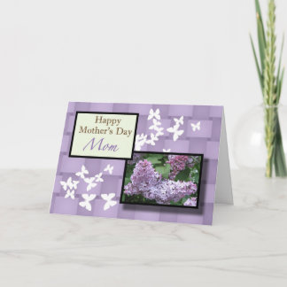 Happy Mother's Day Mom Lilac floral Card
