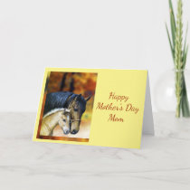 Happy Mother's Day Mom Mother, Horse Equestrian Card