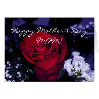 Happy Mother's Day MOM!-Red Rose Card