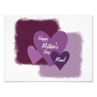 Happy Mother's Day, Mom! Three Purple Hearts Photo Print