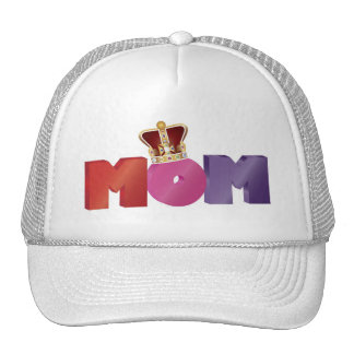 Happy Mother's Day MOM with Jewel Crown Hat