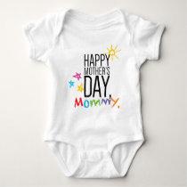 Happy Mother's Day Mommy Baby Bodysuit