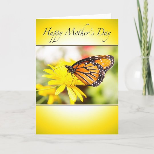 Happy Mother's Day Monarch Butterfly Card