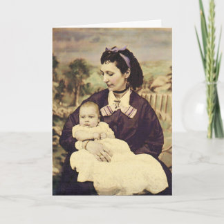 Happy Mother's Day Mother and Child Vintage Photo Card