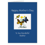 Happy Mothers Day Mother Butterflies Greeting Card