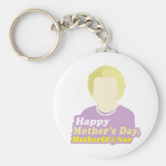 Happy Mother's Day, Motherf__er Basic Round Button Keychain