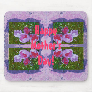 Happy Mother's Day mousemat with crocuses Mouse Pad