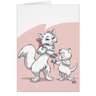 Happy Mother's Day!! Mum cat and kitten Card