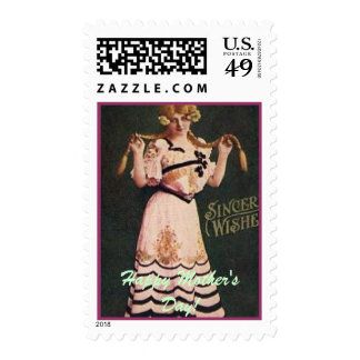 Happy Mother's Day My Vintage Lady Postage Stamp