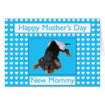 Happy Mother's Day New Mommy Puppy Boy Greeting Card