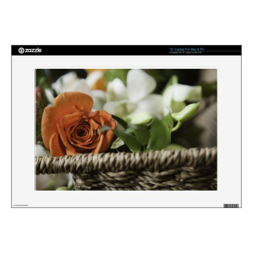Happy Mother's Day - Orange Rose Decals For Laptops