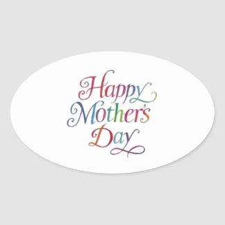 Happy Mother's Day! Oval Sticker